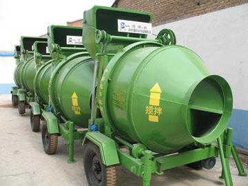 JZC350 tilting drum concrete mixer