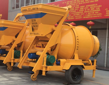 JZC500 tilting drum concrete mixer
