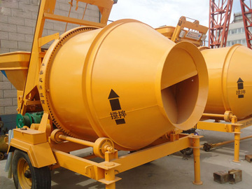 JZC750 tilting drum concrete mixer