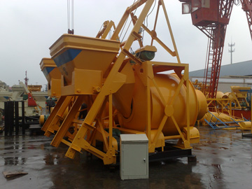 JZC750 tilting drum concrete mixers