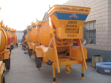 JZM350 mini concrete mixer