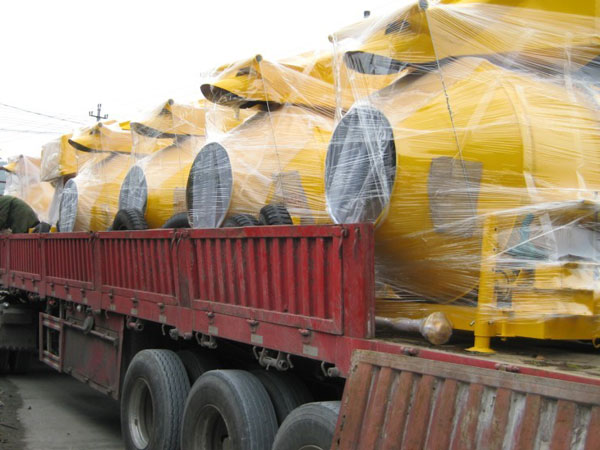 diesel engine concrete mixer delivery