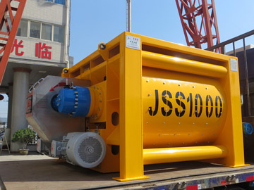 JSS1000 twin shaft concrete mixer
