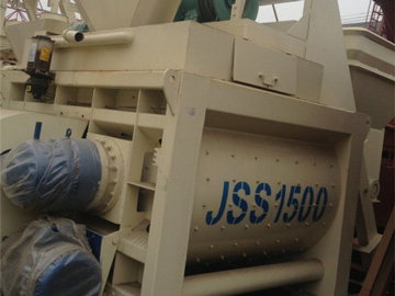 JSS1500 twin shaft concrete mixer