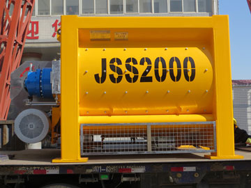 JSS2000 twin shaft concrete mixer