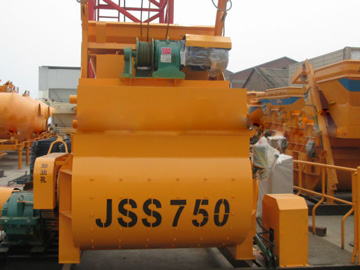 JSS750 twin shaft concrete mixer
