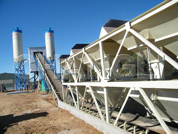 HZS stationary concrete batching plants for sale