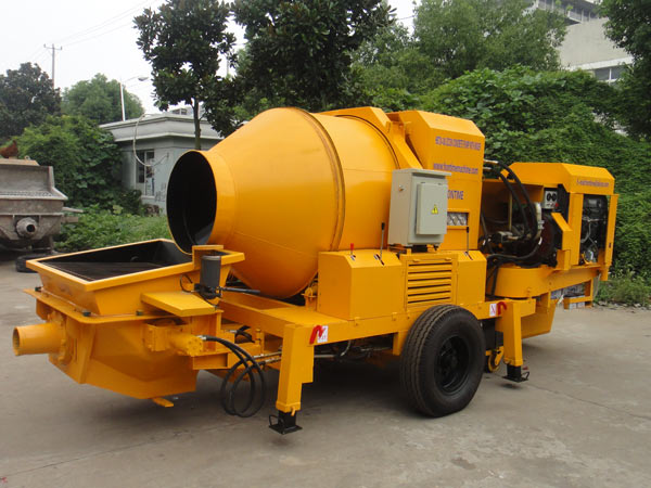 JB40 diesel concrete pump with mixer