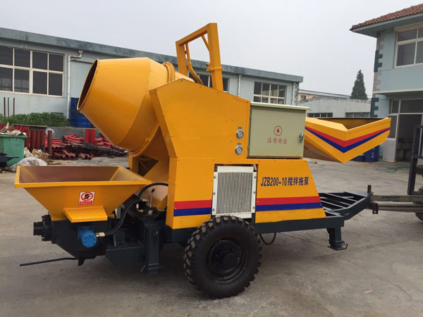 JBS10 concrete mixer with pump for sale