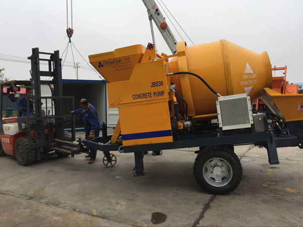 JBS30 concrete mixer and pump was sent to Russia