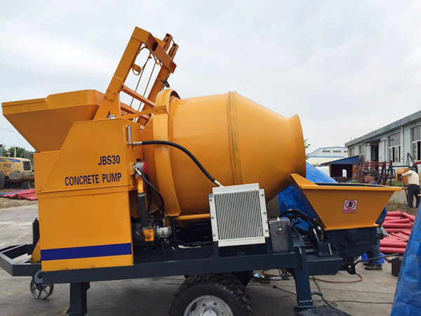 JBS30 electric concrete mixer with pump