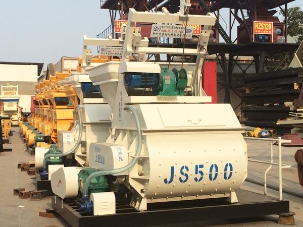 JS twin-shaft concrete mixer