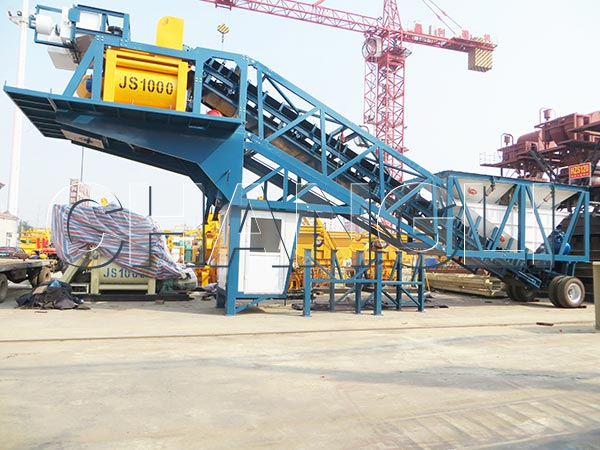 YHZS mobile concrete batching plant for sale