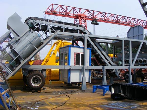 AJY mobile concrete plants delivery