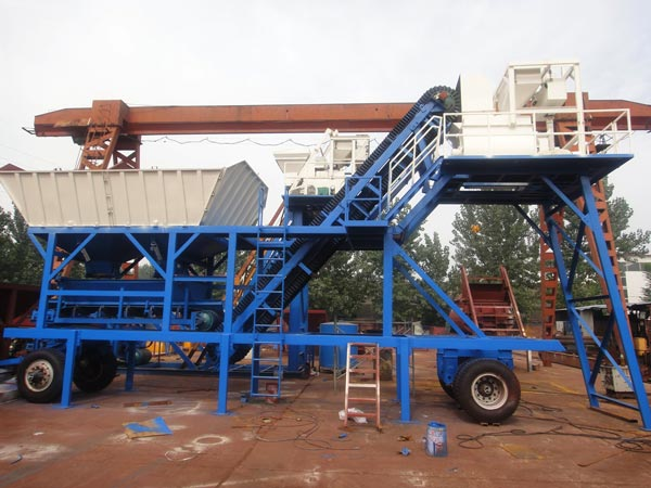 AJY25 mobile concrete mixing plants