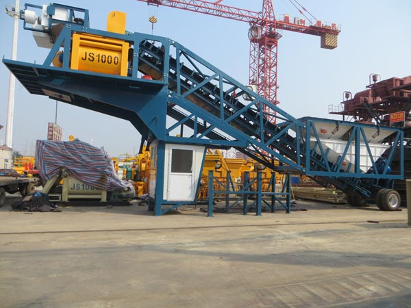 YHZS50 mobile concrete batch plants for sale