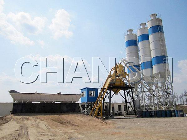 stationary concrete batching plant price