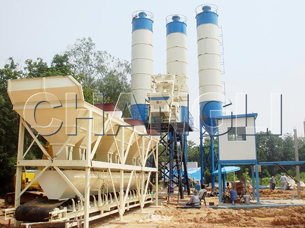stationary concrete mixing plants price
