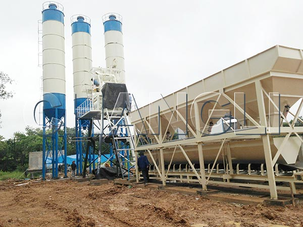 HZS concrete batching plants for sale