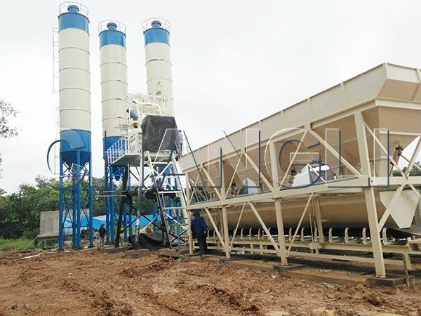 HZS concrete batching plants for sale