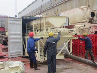 YHZS35 mobile concrete batching plant delivery