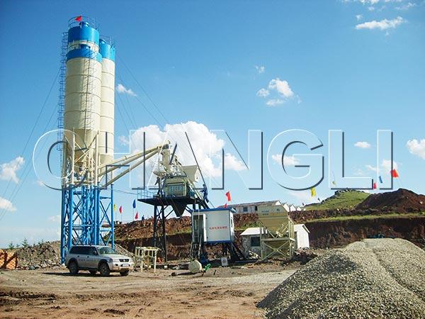 HZS concrete batch plants for sale