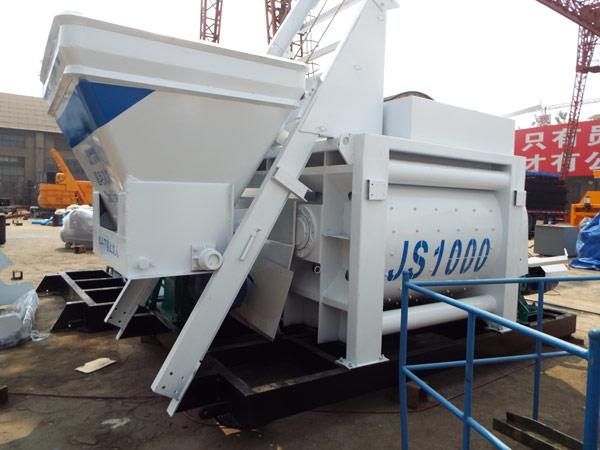 JS1500 twin shaft mixer