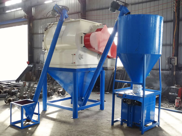 simple type dry-mixed mortar production line
