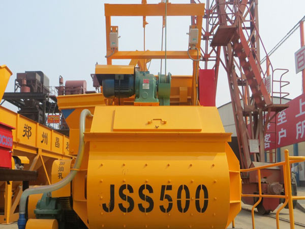 JSS500 twin shaft cement mixer