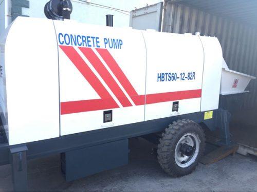 HBTS60 trailer concrete pump delivery