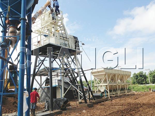HZS automatic concrete batching plant