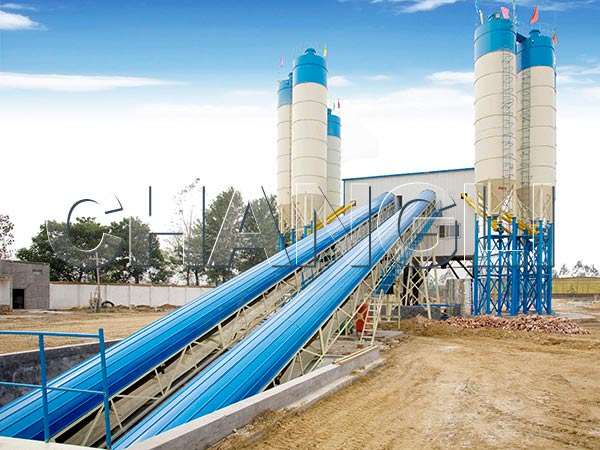 HZS stationary concrete plant