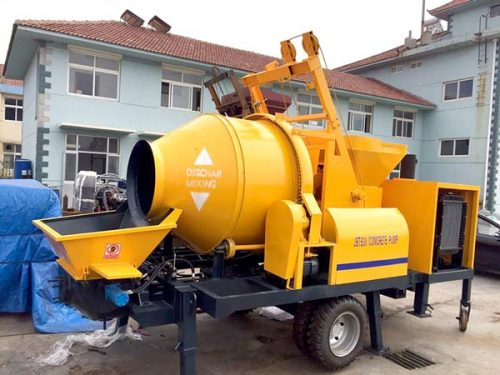 Aimix cement mixer and pump delivery
