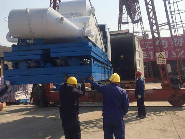 HZS60 small concrete batch plant delivery