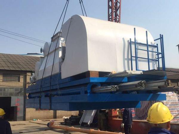 HZS60 small concrete plant delivery
