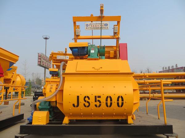 JS twin shaft concrete mixer