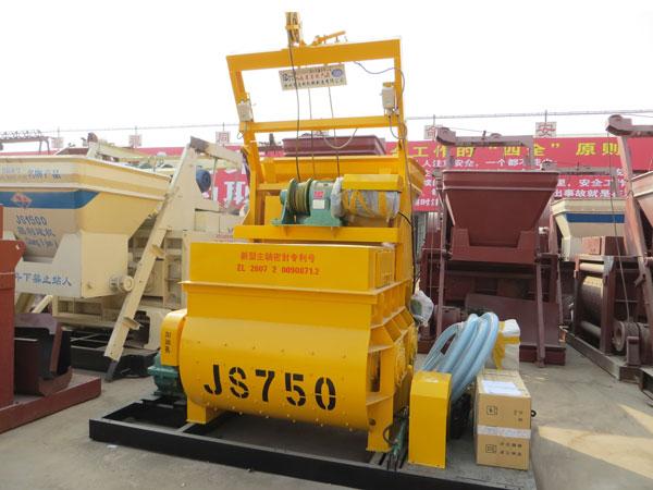 JS750 twin shaft paddle mixer