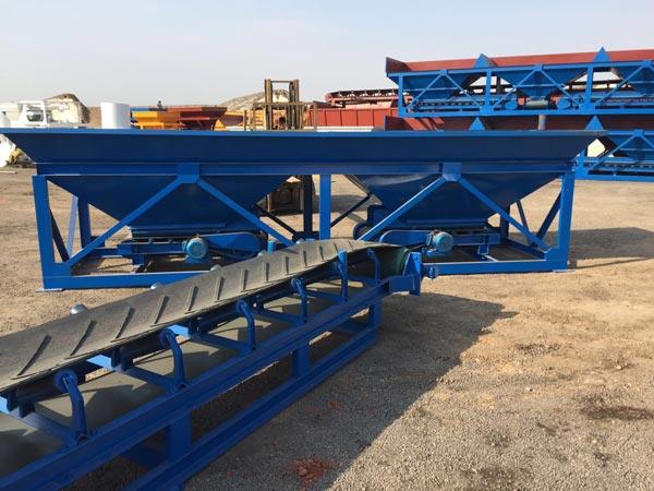 concrete batching machine and belt conveyor