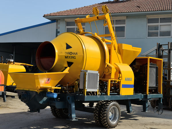 diesel concrete pump mixer from Aimix