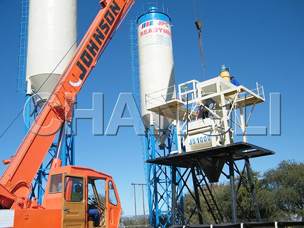 HZS60 ready mix concrete plant