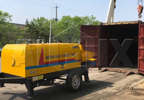 Aimix concrete pump exported