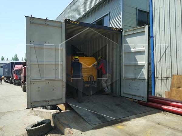 Aimix Diesel concrete pump to Tanzania