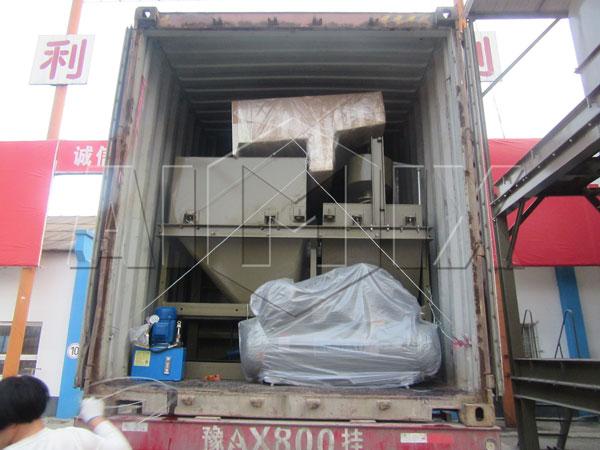 Aimix YHZS60 concrete plant sent to Uzbekistan