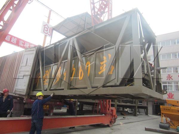 Aimix YHZS60 concrete plant to Uzbekistan