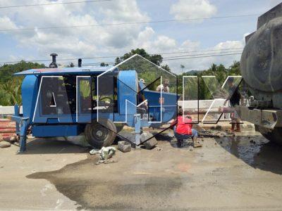 Aimix diesel concrete pump in Philippines