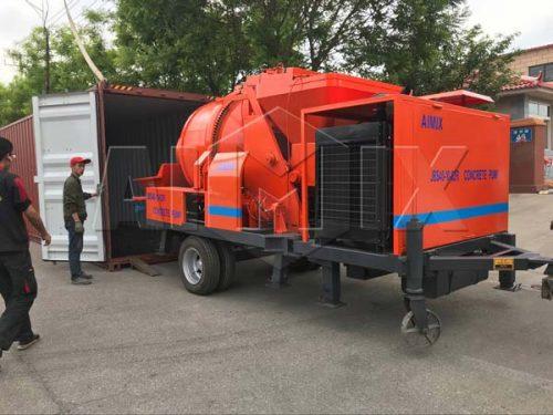 Aimix diesel concrete mixer pump to Pakistan
