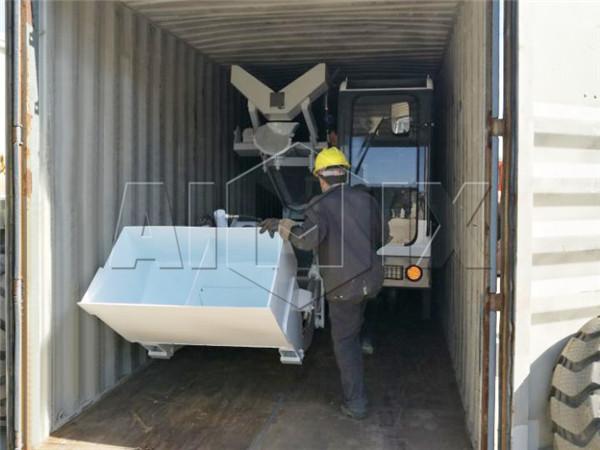 aimix self loading concrete mixer truck to Russia