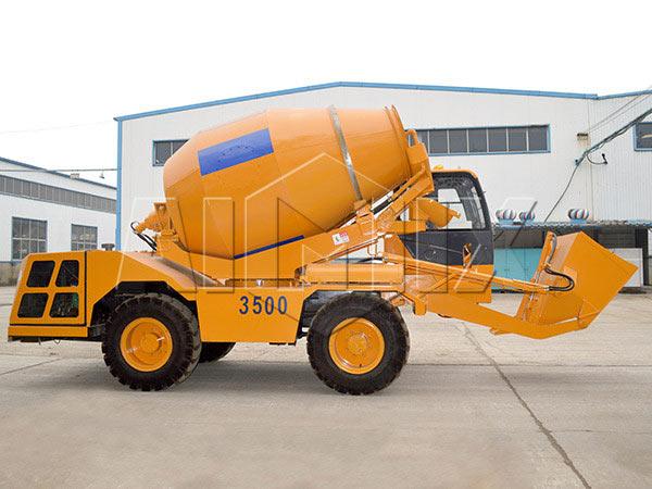 3.5m3 self loading concrete mixer