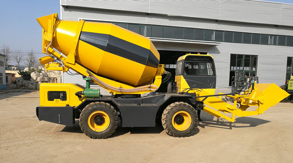 3.5m3 hand operated concrete mixer truck