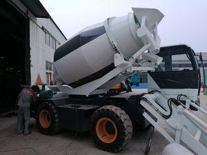 4 m3 portable concrete mixer